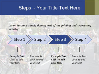The peloton riding up PowerPoint Template - Slide 4