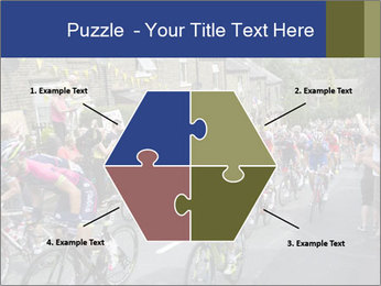 The peloton riding up PowerPoint Template - Slide 40