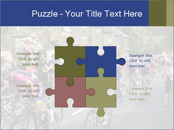 The peloton riding up PowerPoint Template - Slide 43