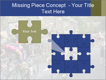 The peloton riding up PowerPoint Template - Slide 45