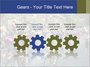 The peloton riding up PowerPoint Template - Slide 48