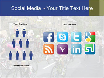The peloton riding up PowerPoint Template - Slide 5