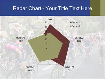 The peloton riding up PowerPoint Template - Slide 51
