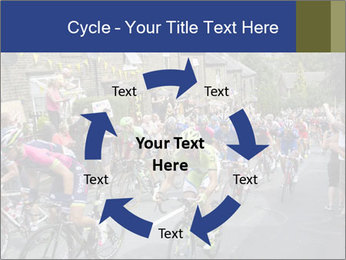 The peloton riding up PowerPoint Template - Slide 62