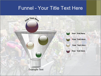 The peloton riding up PowerPoint Template - Slide 63