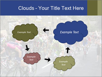 The peloton riding up PowerPoint Template - Slide 72