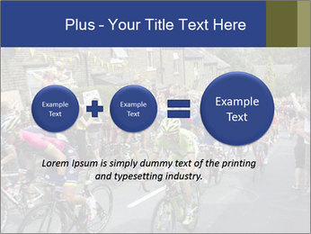 The peloton riding up PowerPoint Template - Slide 75