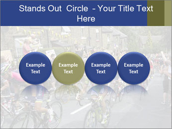 The peloton riding up PowerPoint Template - Slide 76
