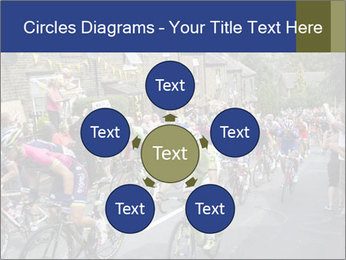 The peloton riding up PowerPoint Template - Slide 78