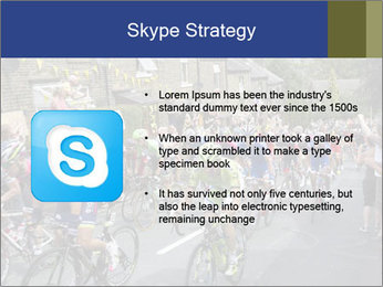 The peloton riding up PowerPoint Template - Slide 8
