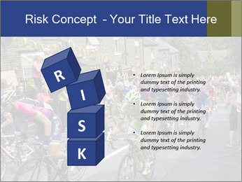 The peloton riding up PowerPoint Template - Slide 81
