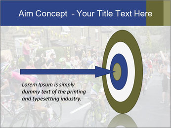 The peloton riding up PowerPoint Template - Slide 83