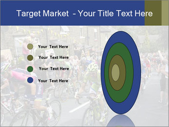 The peloton riding up PowerPoint Template - Slide 84