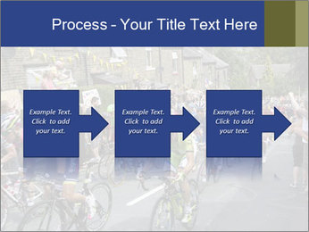The peloton riding up PowerPoint Template - Slide 88