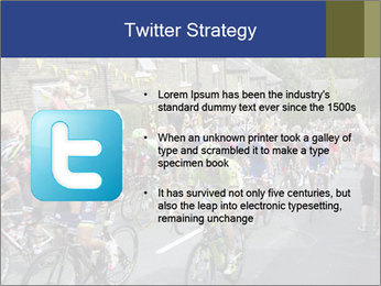 The peloton riding up PowerPoint Template - Slide 9