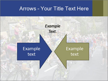 The peloton riding up PowerPoint Template - Slide 90