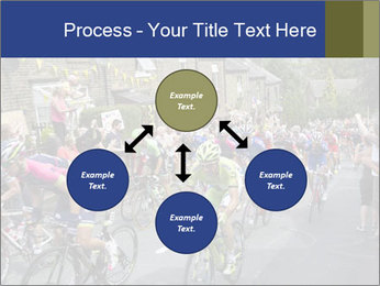 The peloton riding up PowerPoint Template - Slide 91