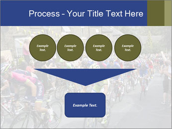 The peloton riding up PowerPoint Template - Slide 93