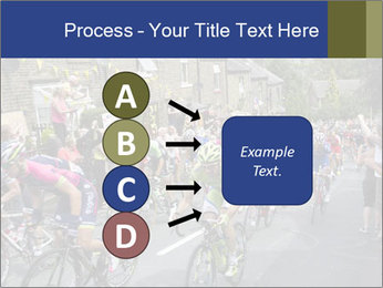 The peloton riding up PowerPoint Template - Slide 94