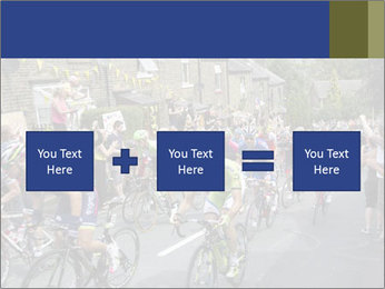 The peloton riding up PowerPoint Template - Slide 95