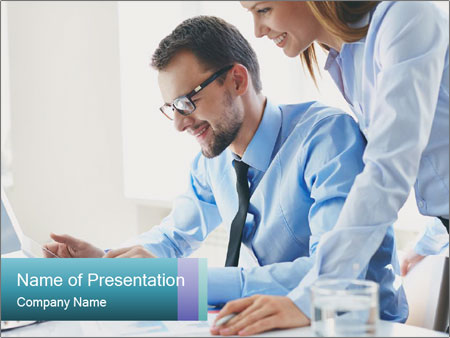 Two business partners PowerPoint Template
