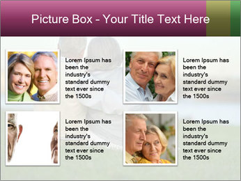 Couple looking at town PowerPoint Template - Slide 14
