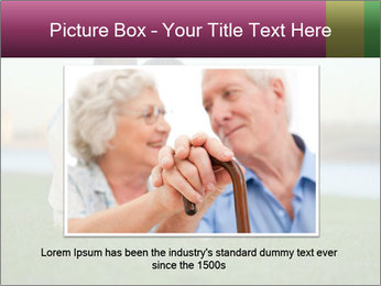 Couple looking at town PowerPoint Template - Slide 16