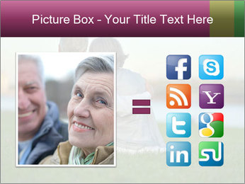 Couple looking at town PowerPoint Template - Slide 21