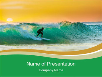 Sunrise PowerPoint Template - Slide 1