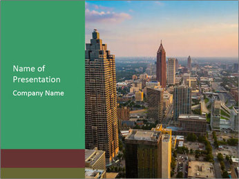 Downtown PowerPoint Template - Slide 1