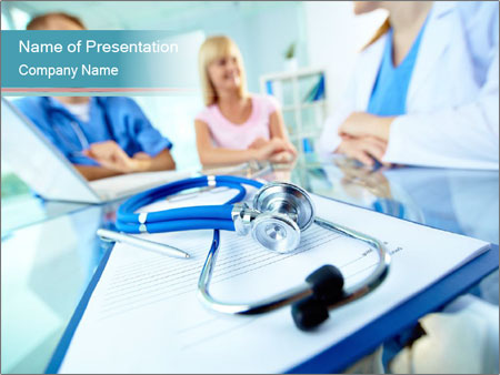 Вoctors and patient PowerPoint Templates