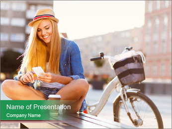 Stylish woman PowerPoint Template - Slide 1