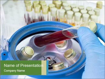 In laboratory PowerPoint Template