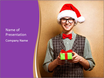 Christmas Santa PowerPoint Template - Slide 1