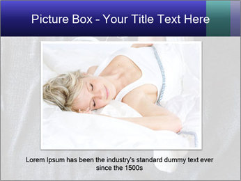 Woman on the bed PowerPoint Template - Slide 16