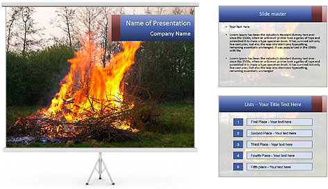 Easter fire PowerPoint Template