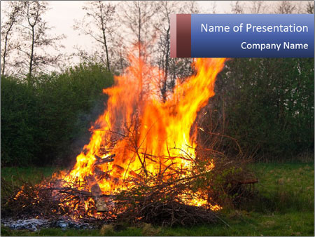 Easter fire PowerPoint Templates
