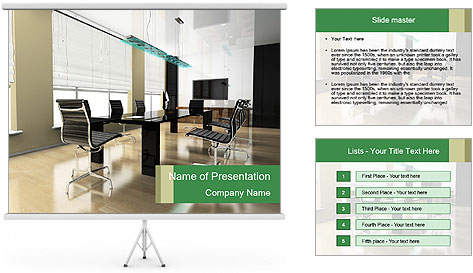 The modern interior PowerPoint Template