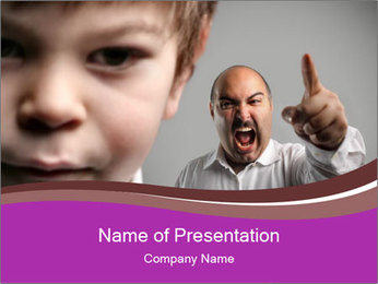 A sad child PowerPoint Template