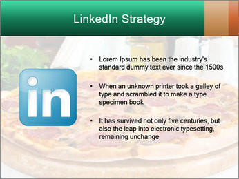 Pizza with salami PowerPoint Template - Slide 12