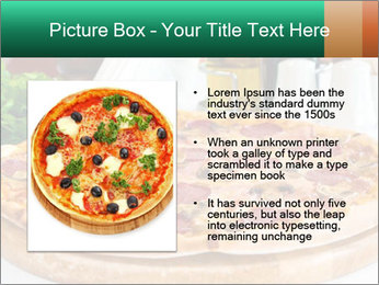 Pizza with salami PowerPoint Template - Slide 13