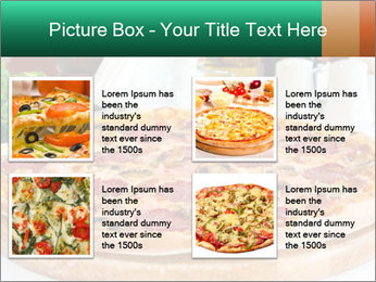 Pizza with salami PowerPoint Template - Slide 14