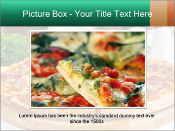 Pizza with salami PowerPoint Template - Slide 16