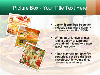 Pizza with salami PowerPoint Template - Slide 17