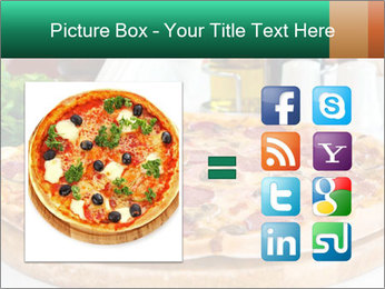 Pizza with salami PowerPoint Template - Slide 21