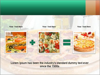 Pizza with salami PowerPoint Template - Slide 22
