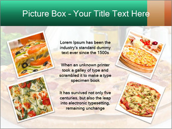 Pizza with salami PowerPoint Template - Slide 24
