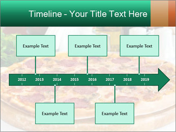 Pizza with salami PowerPoint Template - Slide 28