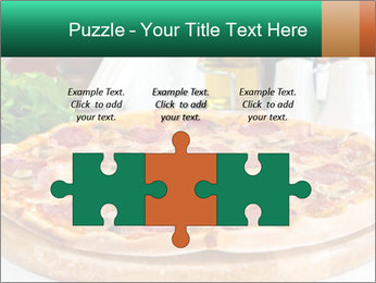 Pizza with salami PowerPoint Template - Slide 42