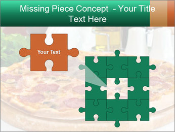 Pizza with salami PowerPoint Template - Slide 45